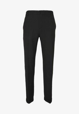 PINO WAIST PANTS - Tygbyxor - black