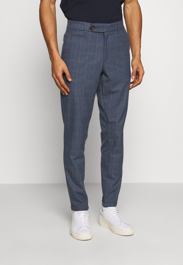 COMO MULTI CHECK SUIT PANTS - Bukser - provincial blue
