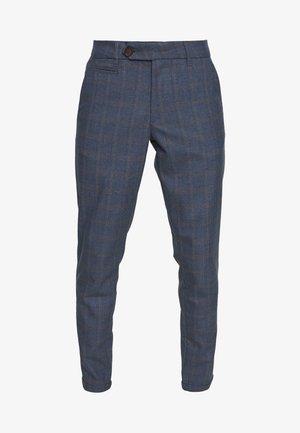 COMO MULTI CHECK SUIT PANTS - Broek - provincial blue
