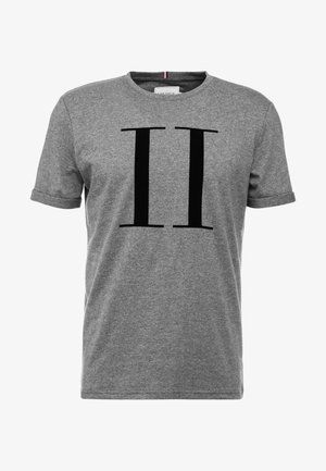 ENCORE  - Print T-shirt - charcoal melange/black