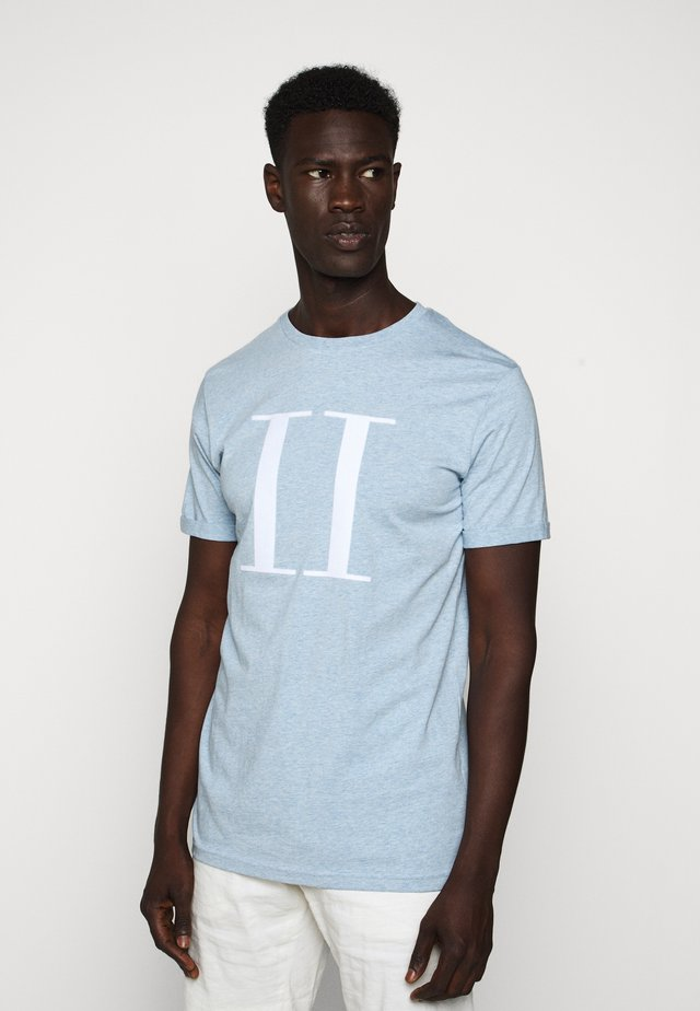 ENCORE  - Print T-shirt - light blue melange