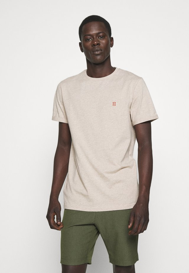 NORREGARD - T-shirts basic - light brown melange