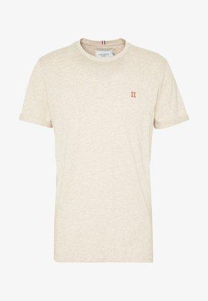 NORREGARD - T-shirt - bas - light brown melange