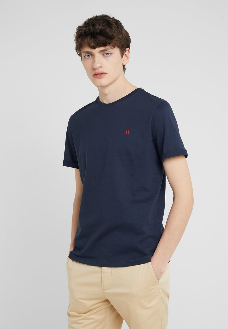 Les Deux - NORREGARD - Basic T-shirt - dark navy