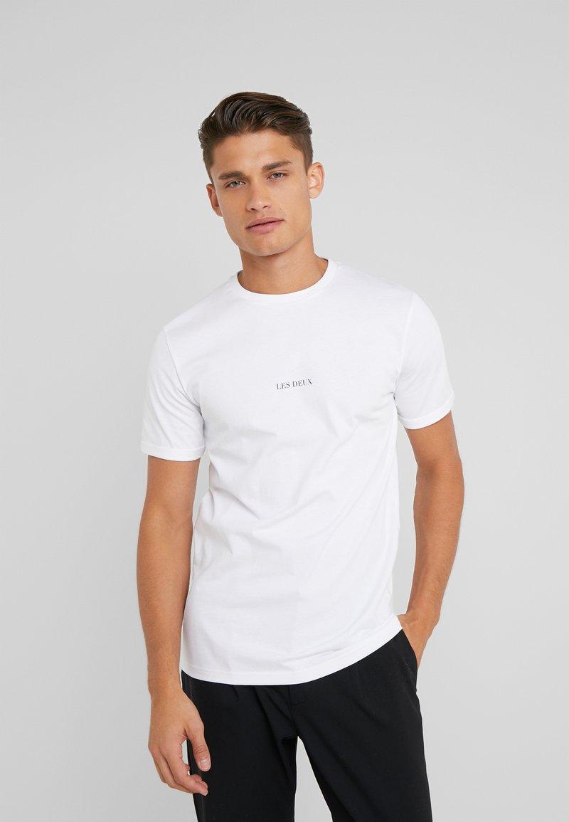 Les Deux - LENS - T-Shirt basic - white/black