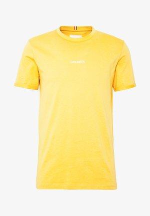 LENS - Basic T-shirt - yellow/white