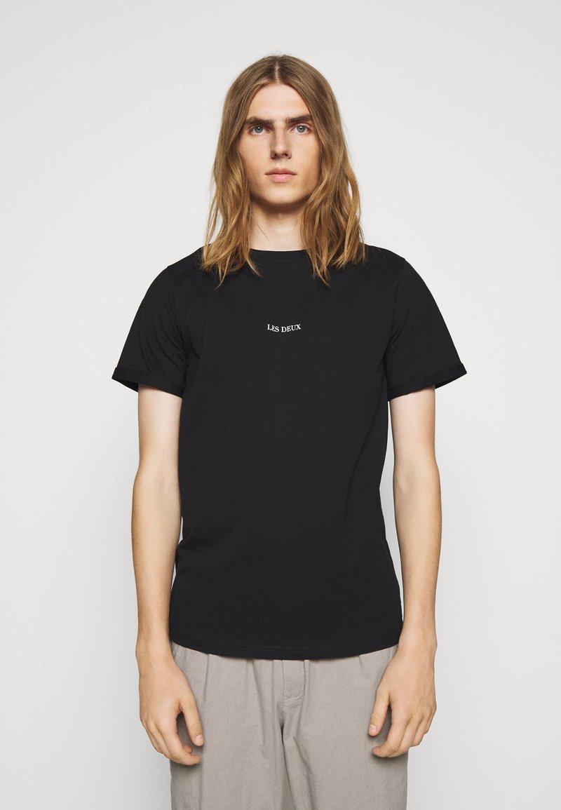 Les Deux - LENS - T-Shirt basic - black/white