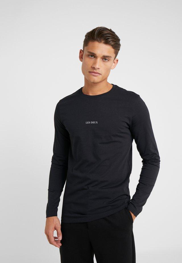 LENS - Long sleeved top - black/white