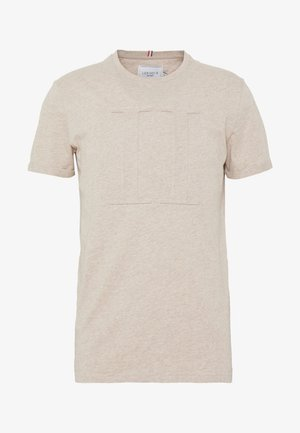EMBOSSED ENCORE  - Jednoduché triko - light brown melange