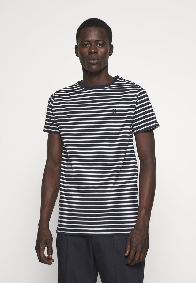 SAILOR  - Print T-shirt - dark navy/off white