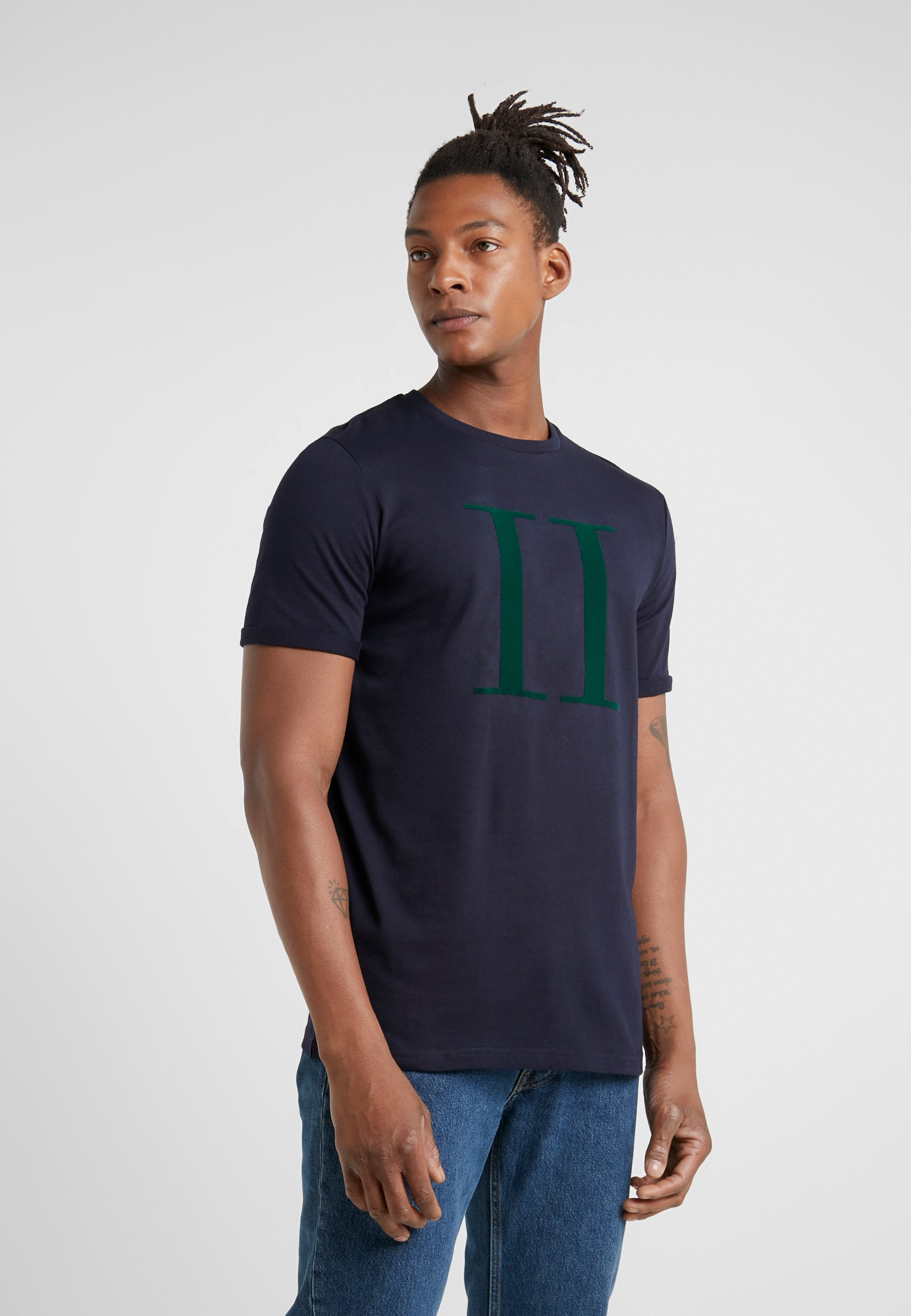 Les Deux Encore- T-shirt Print Dark Navy / Green CsXnAvOZ nbxx2CKX