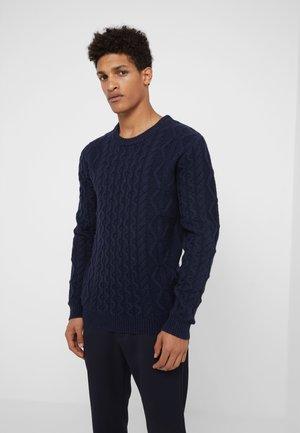 PIGALLE CABLE  - Stickad tröja - dark navy