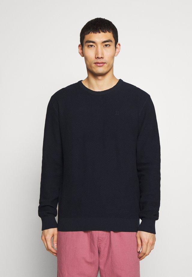 HENRI STRUCTURE - Stickad tröja - dark navy