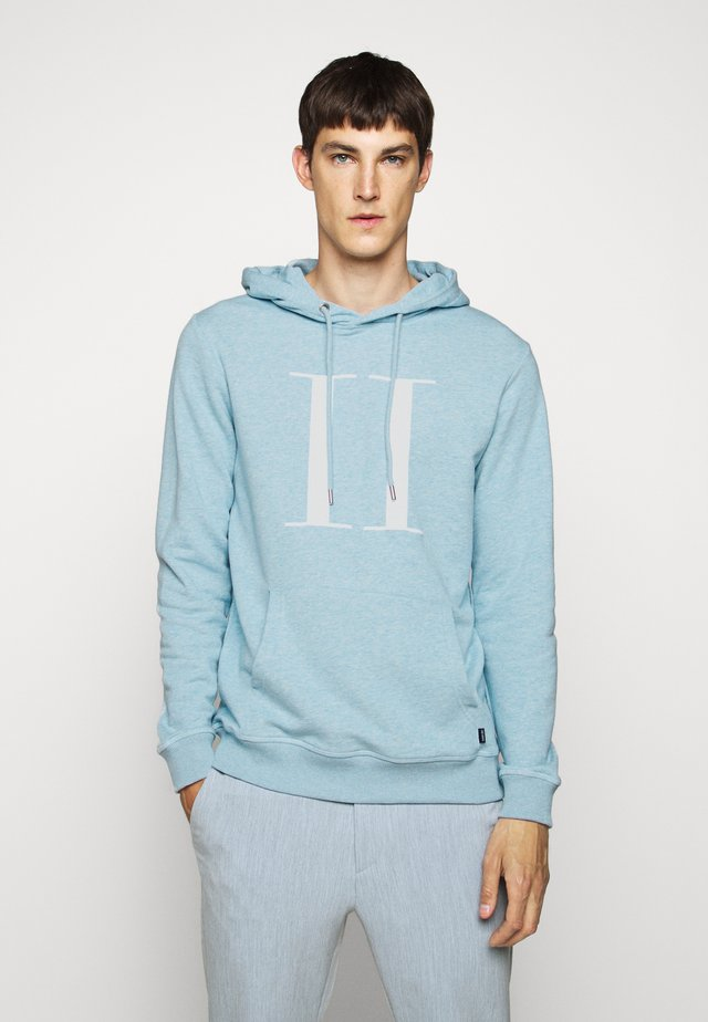 ENCORE HOODIE - Jersey con capucha - light blue/white