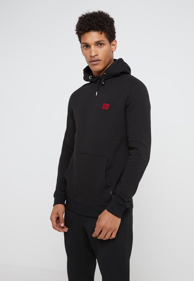 PIECE HOODIE - Jersey con capucha - black/red