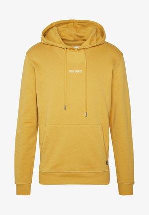 LENS HOODIE - Hoodie - yellow / white
