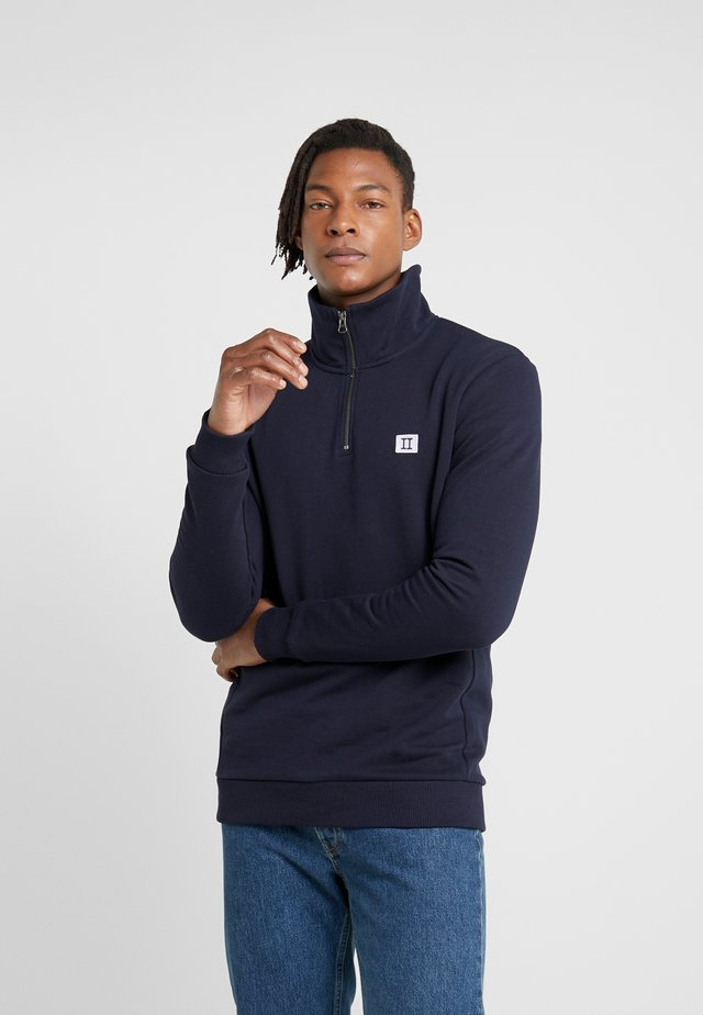 PIECE HALF ZIP - Collegepaita - dark navy/lavender