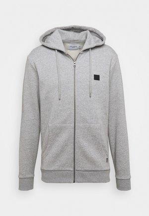CLINTON ZIPPER HOODIE - Sweatjacke - light grey melange/black