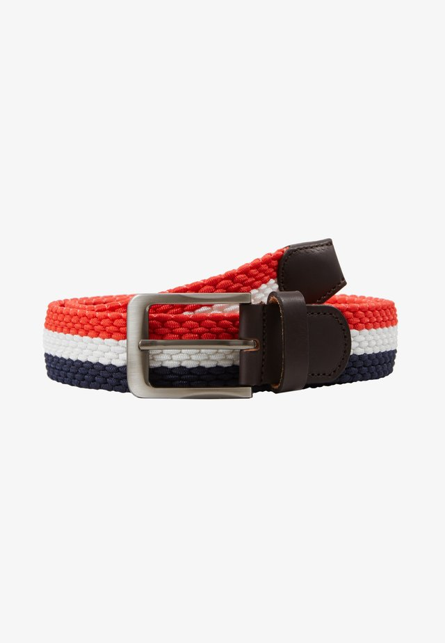 TILLÉ BELT - Ceinture - dark blue/white/red