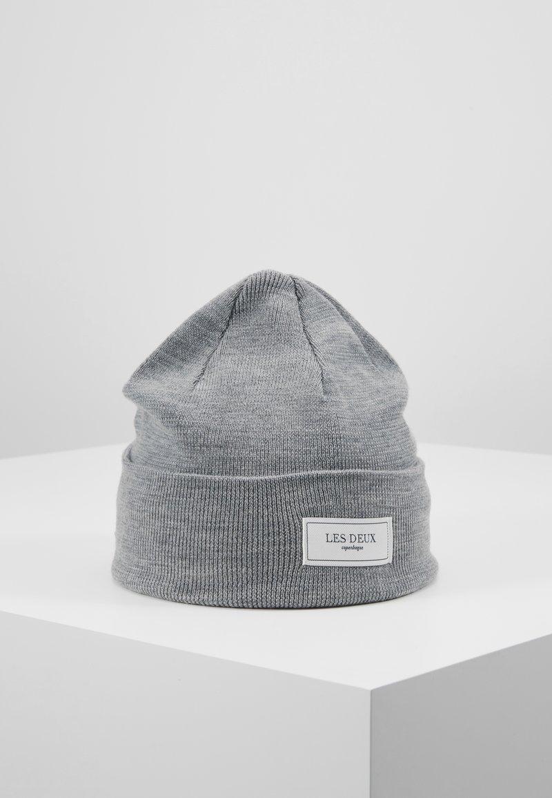 Les Deux - PATCH BEANIE - Beanie - light grey