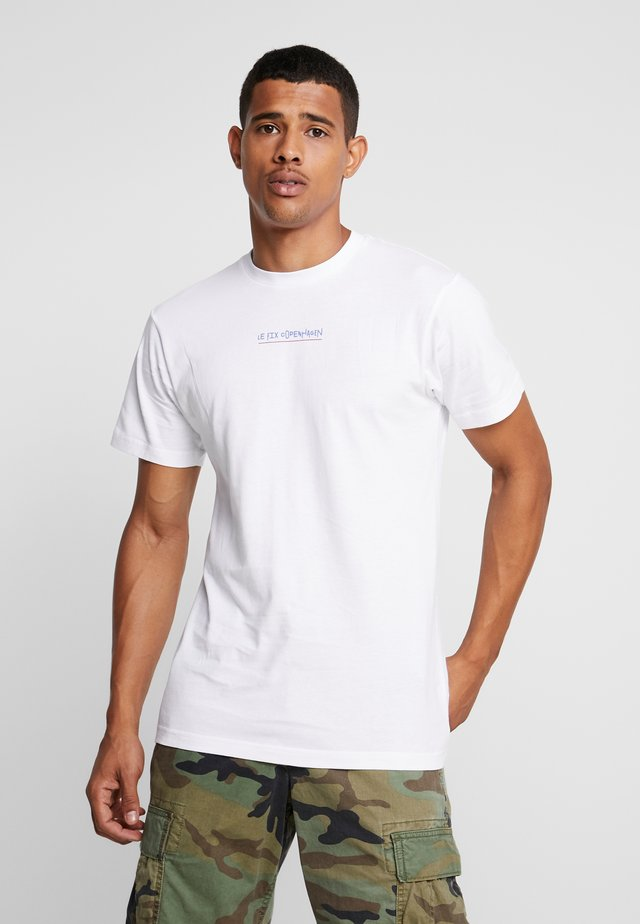 JUMPING LETTERS TEE - T-shirt print - white