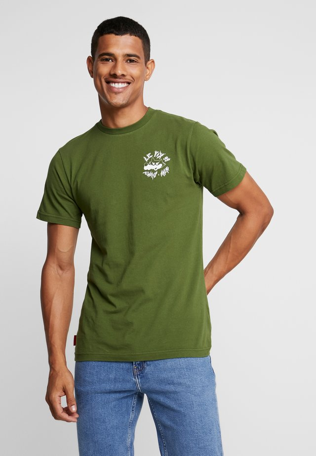 AHEAD WOLF TEE - T-shirt med print - army