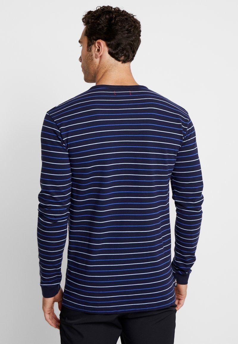Fix Longues Manches Navy Thin StripeT shirt Le À blue ZiwukXTOlP