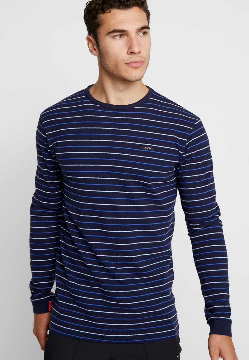 Le Fix - THIN STRIPE  - Langarmshirt - navy/blue