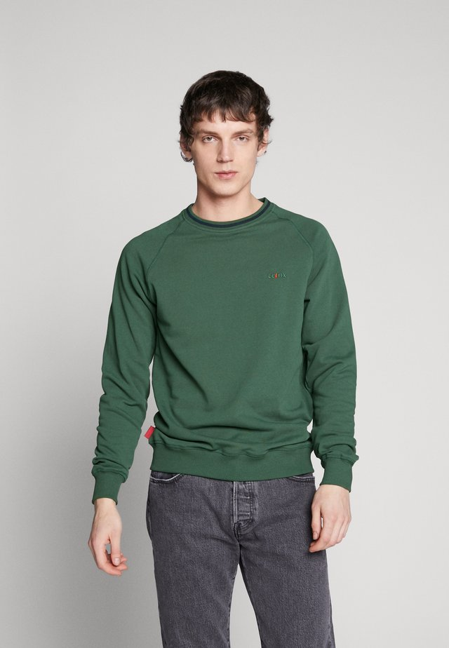 STRIPE CREW - Sweatshirt - bottle green