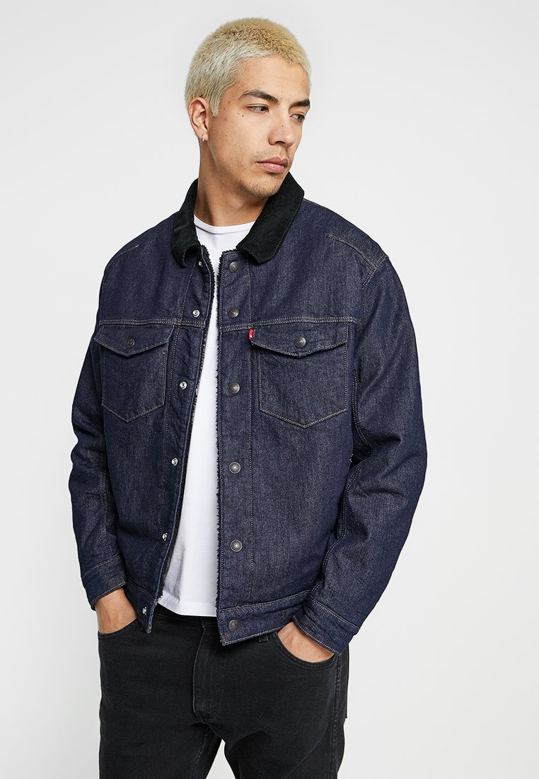 Levi's® Engineered Jeans - TRUCKER - Spijkerjas - dark blue denim