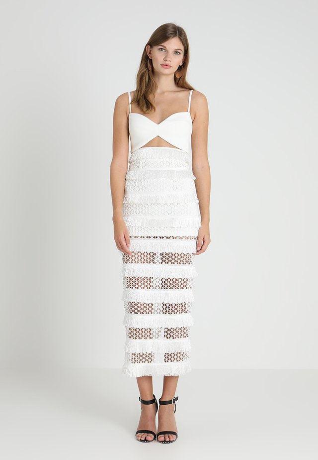 MINA DRESS - Occasion wear - white