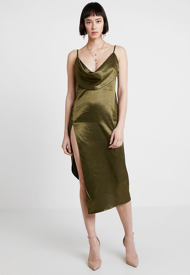 CARMEN DRESS - Cocktailjurk - olive green