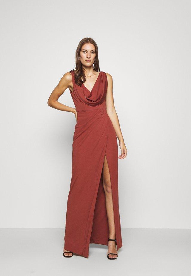 NAIDA DRESS - Festklänning - terracotta