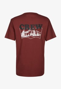 Levi's® Skateboarding - T-SHIRT GRAPHIC - Print T-shirt - brickwork crew red - 1