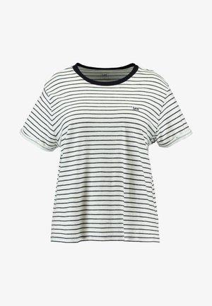 STRIPE TEE - T-shirt imprimé - midnight navy