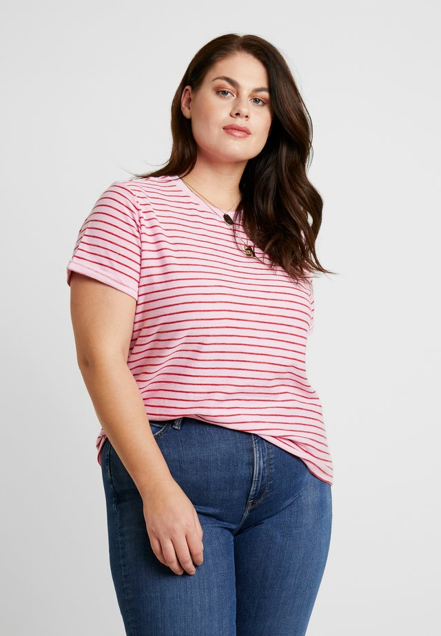 STRIPE TEE - T-shirts med print - frost pink