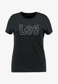 Lee Plus - ESSENTIAL LOGO TEE - Camiseta estampada - black - 3