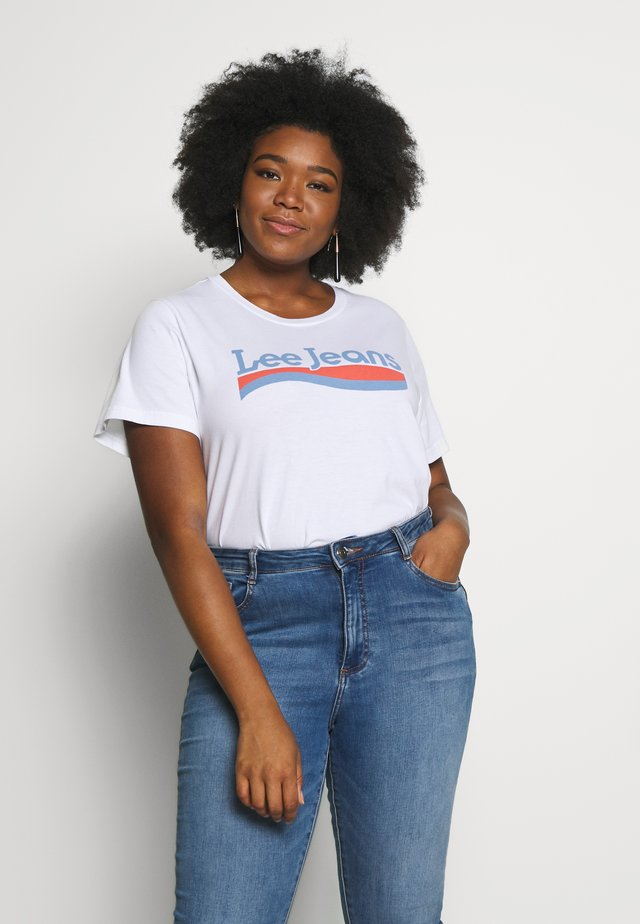 CREW NECK TEE - Print T-shirt - bright white
