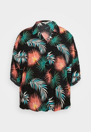 FLORAL RESORT SHIRT - Overhemdblouse - black