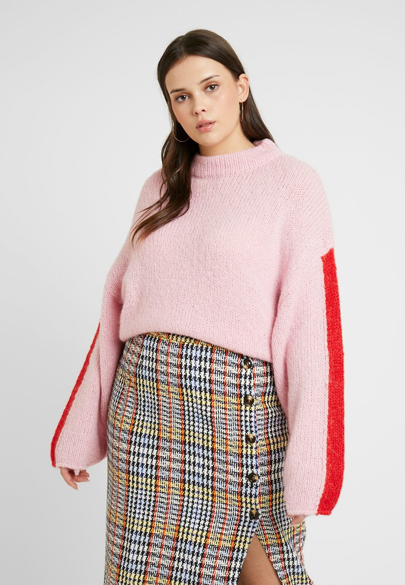 Lee Plus - CHUNKY - Jumper - frost pink