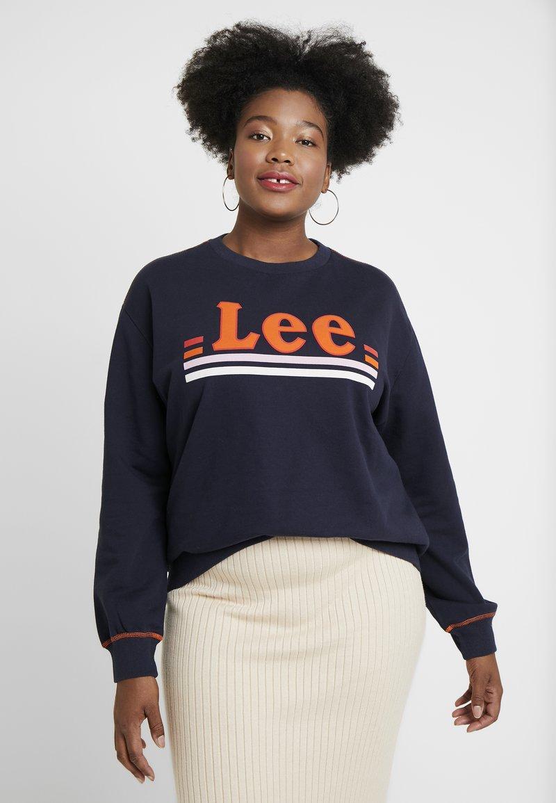 Lee Plus - LOGO - Sweatshirts - midnight navy