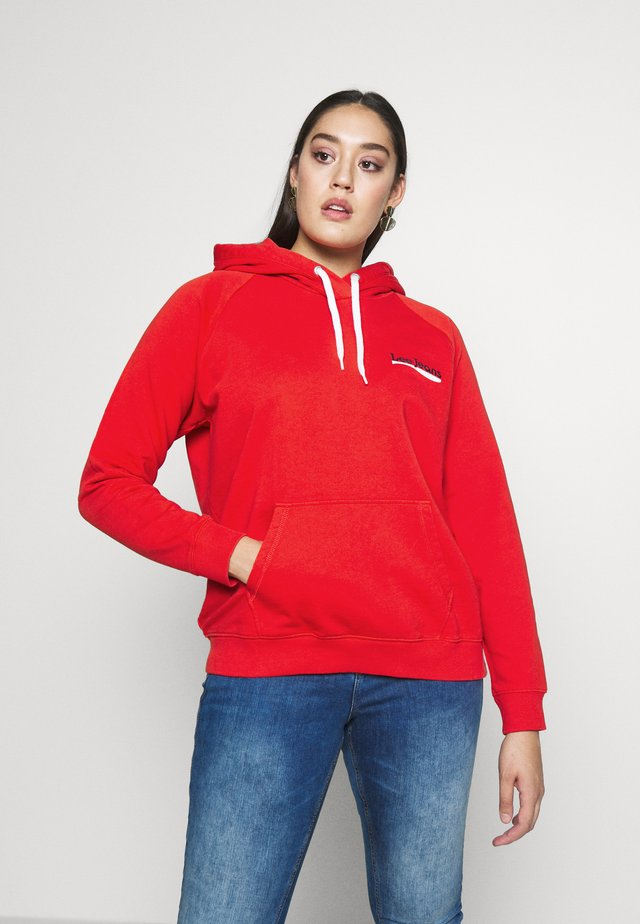 HOODIE - Mikina s kapucí - red