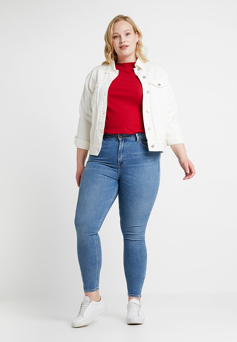 Lee Plus - SCARLETT HIGH WAISTED ANKLE ZIP - Jeans Skinny - blue aged