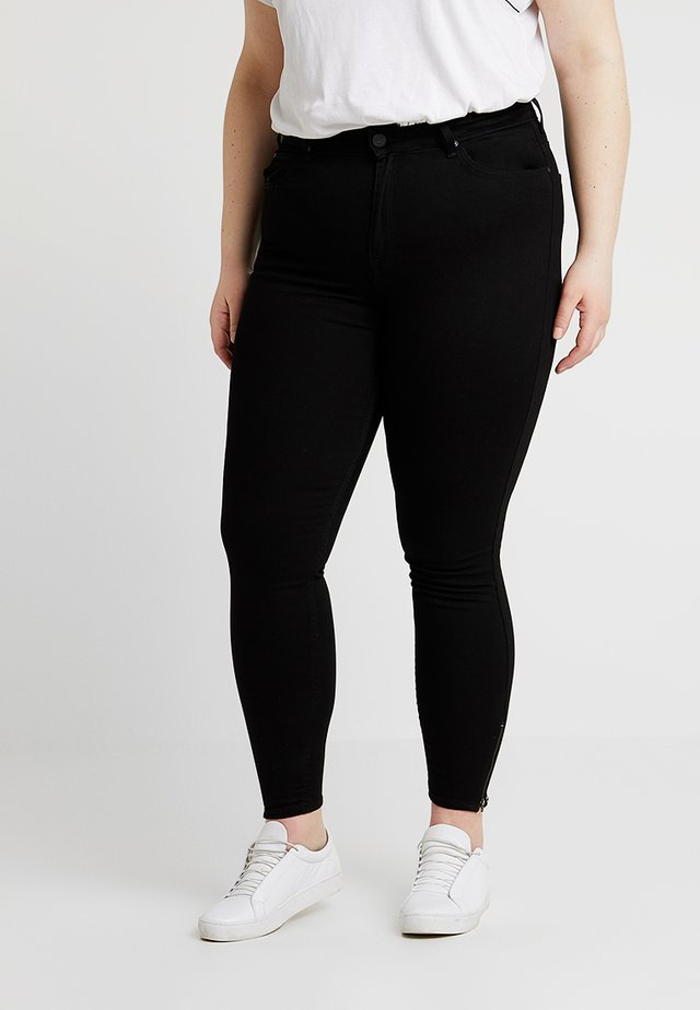 SCARLETT HIGH WAISTED ANKLE ZIP - Jeansy Skinny Fit - black