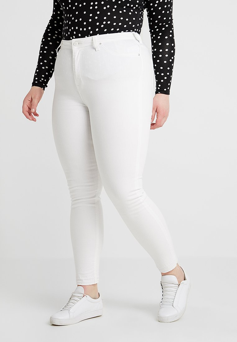 Lee Plus - SCARLETT HIGH WAISTED - Jeans Skinny Fit - raw off white