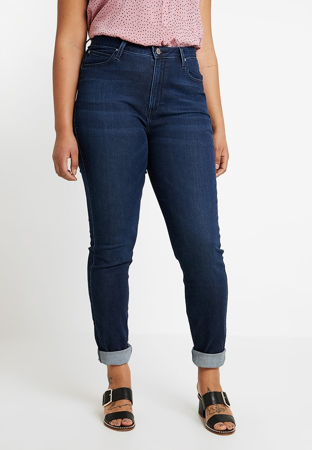 SCARLETT HIGH WAISTED - Skinny-Farkut - polished indigo