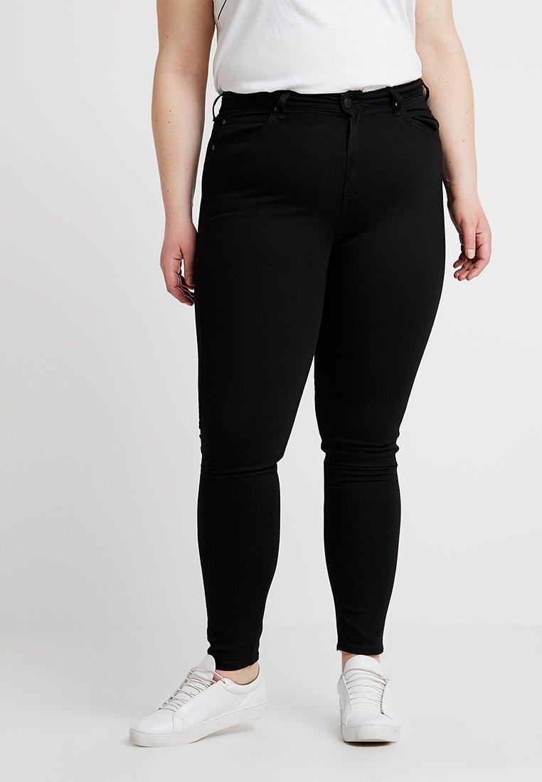 Lee Plus - SCARLETT HIGH WAISTED - Skinny džíny - black