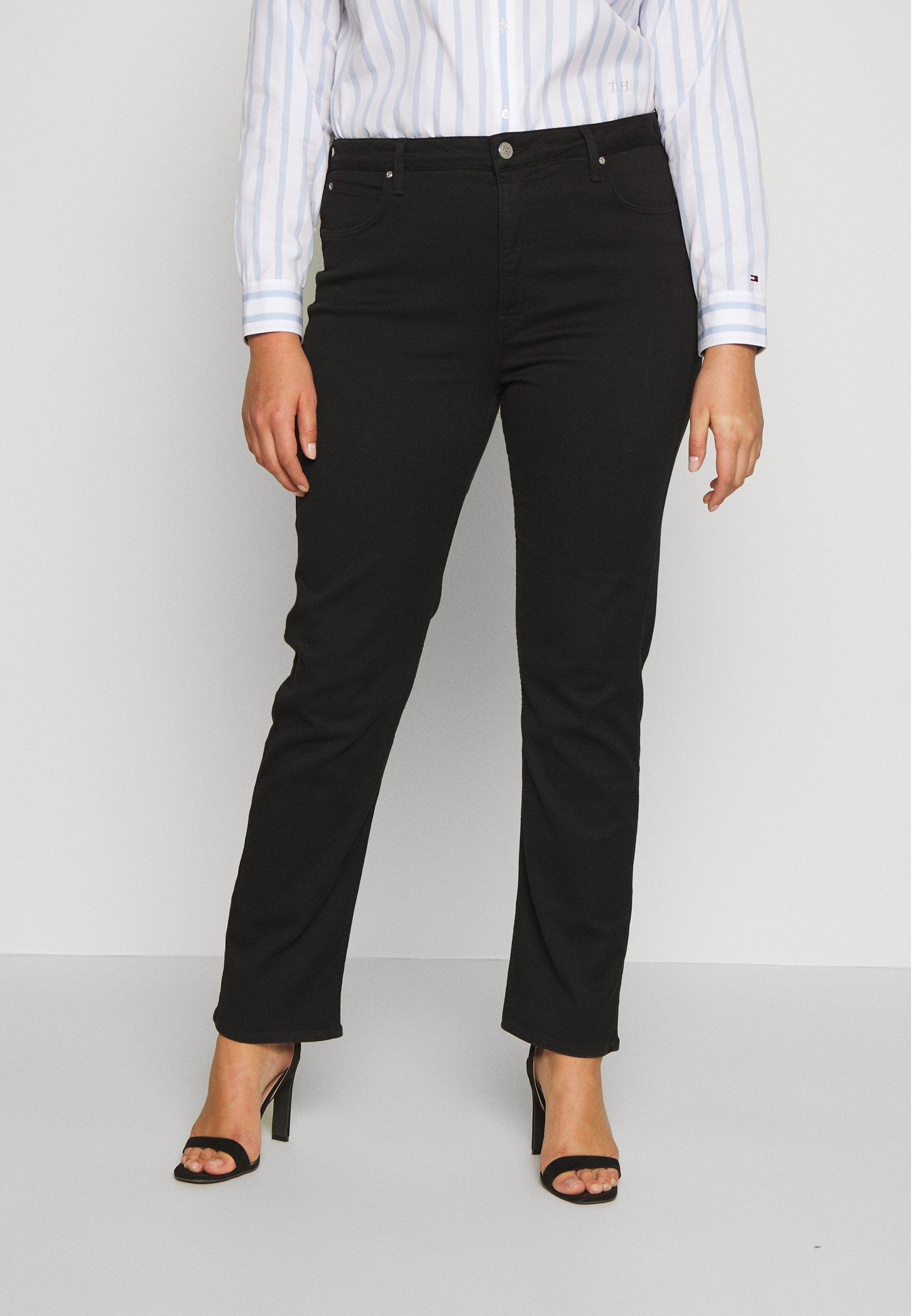 Lee Plus CLASSIC - Jeansy Straight Leg - black