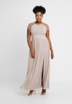 CAP SLEEVES BALL GOWN - Occasion wear - oyster