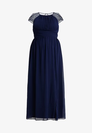 CAP SLEEVES BALL GOWN - Occasion wear - navy
